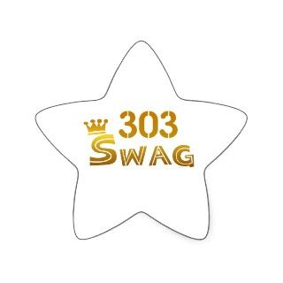 303 Colorado Swag Star Stickers