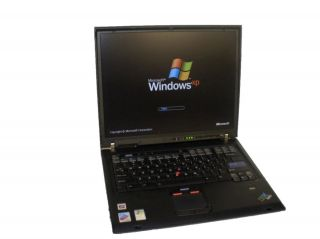 IBM ThinkPad T43 WiFi Laptop PM 1 60GHz 1GB 40GB Combo XPP Free