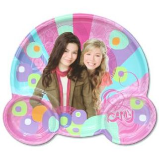 iCarly Plastic Shaped Trio Plate Favor Party Supplies