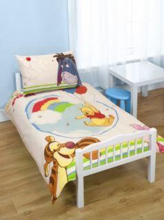 The Pooh Classic Panel Junior Cot Bed Duvet Quilt Cover Set