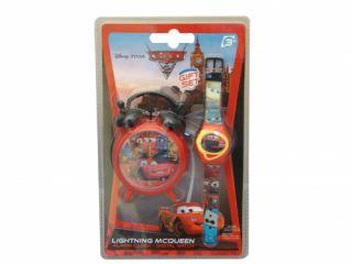 Lightning McQueen Alarm Clock Wrist Watch Set Brand New Gift