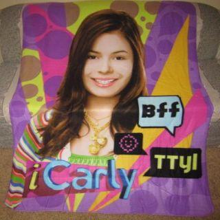 New iCarly i Carly Fleece Throw Blanket Girl GIFT NWT Nickelodeon Nick