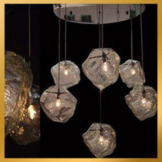 Lights Modern Ice Cube Rock Light Pendant Lamp Ceiling Hanging