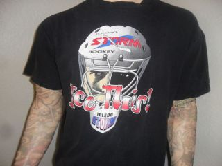 Vtg Toledo Storm Shirt Goalie Mask Ice This Hockey XL