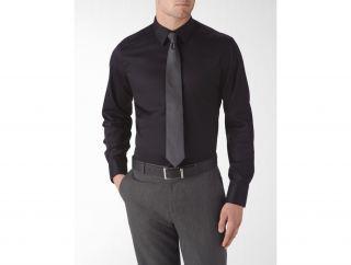 Calvin Klein Mens Steel Slim Fit Non Iron Textured Dress Shirt
