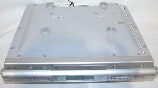 Sony ICF CDK50 Used Under Cabinet Kitchen Sound System CD Clock Radio