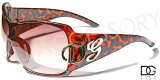 DG Eyewear Oversized Women Designer Sunglasses Shades Tortoise Light