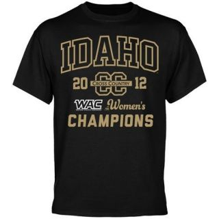 Idaho Vandals 2012 WAC Womens Cross Country Champions T Shirt Black