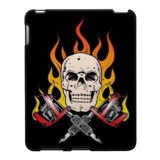Tatuaje llameante del cráneo 318 cárcasa para el iPad de