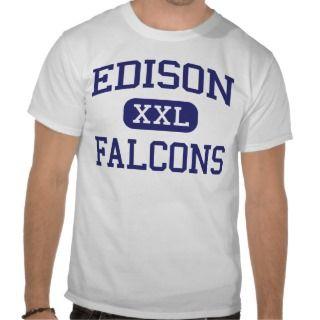 Edison Falcons Middle Port Arthur Texas Tee Shirt