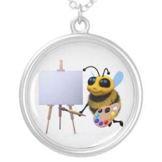 3d Bee Artist Pendant