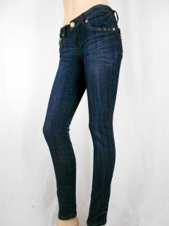 Women La Idol Skinny Jeans Tribal Gold Leopard Rhinestone Pockets