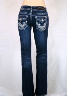 La Idol Bootcut Jeans Tribal Tattoo Rhinestones 1 13
