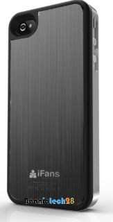 Ifans ultra slim brush aluminium battery case for Iphone 4 4s Gunmetal