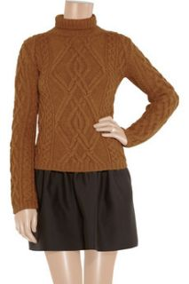 Chloé Cable knit merino wool and alpaca blend sweater   64% Off
