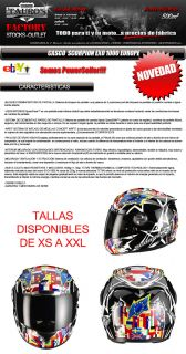 Casco Scorpion Exo 1000 Europe Helmet Integral Todas Las Tallas Moto