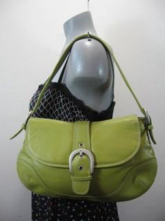 Ili Bright Green Leather Hobo Shoulder Bag Purse Tote Beautiful