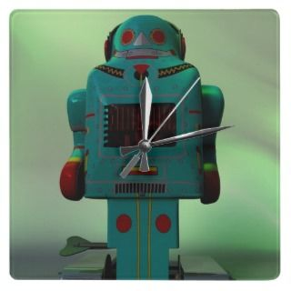 Green Army Men Round Wall Clocks
