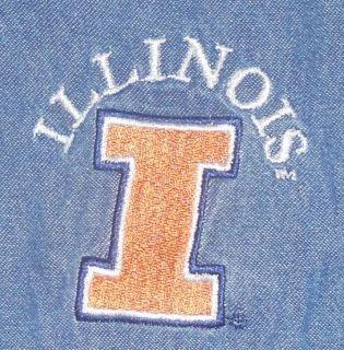Illinois Fighting Illini Denim Long Sleeve Button Shirt