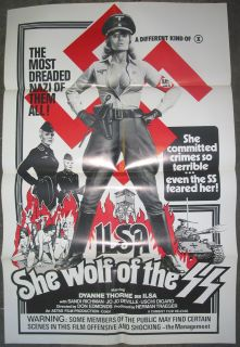 ILSA SHE WOLF OF THE SS / ORIGINAL U.S. ONE SHEET MOVIE POSTER (DYANNE