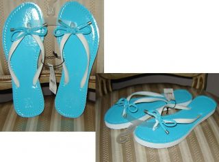 NY&C Blue(light or dark) or Yellow or Black t thong flip flops sandals