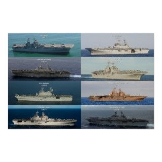 USS Wasp Class LHD carriers. Their primary mission to deliver and