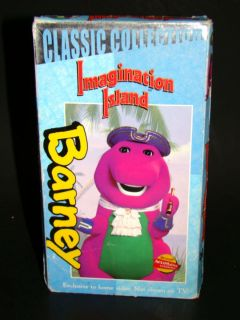 RARE Barney Barneys Imagination Island VHS 1999 Classic Collection VG