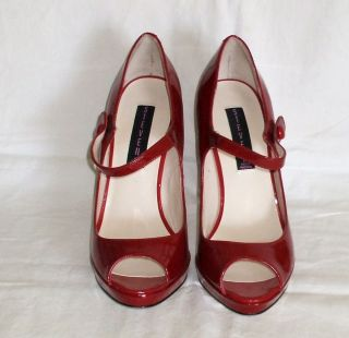 Steven by Steve Madden Red Pumps Womens 8 5 Brytni Peep Toe 4 5 inch