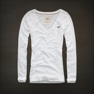 Hollister Womens Imperial Beach Long Sleeve V Neck T Shirt Sexy s M L