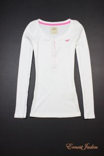 by Abercrombie Womens Imperial Beach Henley Tee T Shirt L