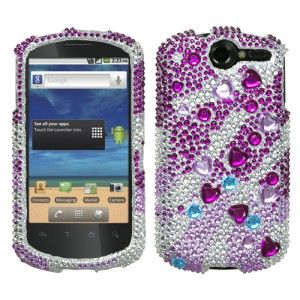 For at T Huawei Impulse 4G Crystal Diamond Bling Case Phone Cover Star