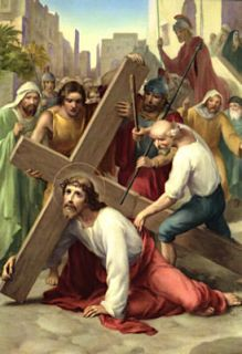 Antique 3rd Station of the Cross ~ Immaculata High School/Sisters of