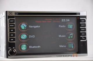DVD GPS Navigation Radio Touch Screen 2 DIN in Dash Deck Player