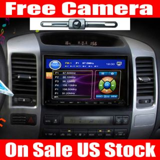 HD 7Touch Screen in Dash Head Unit 2 DIN Car Stereo DVD Player Free