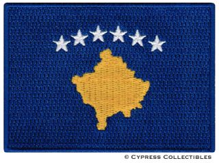 Kosovo Flag Embroidered Iron on Patch Emblem Yugoslavia