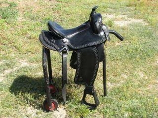 Imus 4 Beat Gaited Western Trail Horse Saddle Amish Made 16 Seat
