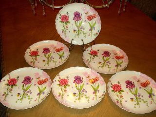 Lot Melamine Plastic Large Round Dinner Plate Serving Dish Flowers 9