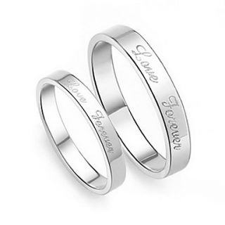 USD $ 21.19   925 Sterling Silver Platinum Plated Love Foever Couples