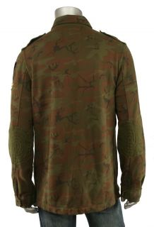 Polo Ralph Lauren Rugby Fleece Camo Army Jacket L New