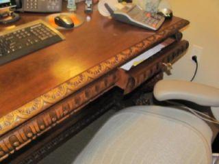 Great Carved German Antique Eagle Desk 05BL126