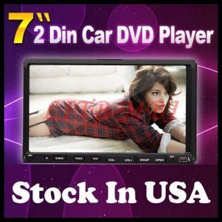 In Dash Head Car Stereo DVD Player 7 Touch Screen CD Radio USB SD Mic
