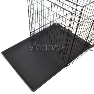 30 3 Door Black Folding Dog Crate Cage Kennel Three 2