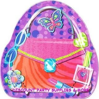 Glitzy Girl Purse Shaped Plastic Melamine Snack Plate