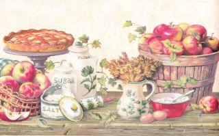 Kitchen Grannys Apple Pie Berautiful Wallpaper Border Wall