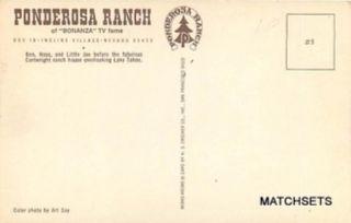 Incline Village Nevada Ponderosa Ranch Bonanza TV Fame Postcard