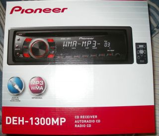 PIONEER CAR STEREO INDASH CD  WMA AM FM RECEIVER WITH FRONT AUX