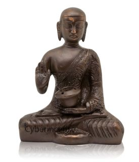 Medicine Buddha Incense Burner for Cones or Sticks Brass 5 BB140