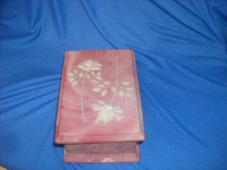 Nemith Incolay Stone Trinket Jewelry Box Pink Roses Nice