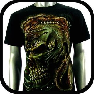 Biker Punk Tattoo C111 Sz M Indie Rock Graffiti Devil Skull