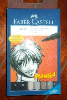Faber Castell 8 Pitt Artist Pens Manga Pigmented India Ink